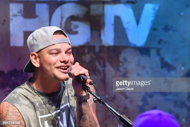 Singer Kane Brown performs onstage at the HGTV Lodge during CMA Music Fest on June 9 2017 in Nashville Tennessee