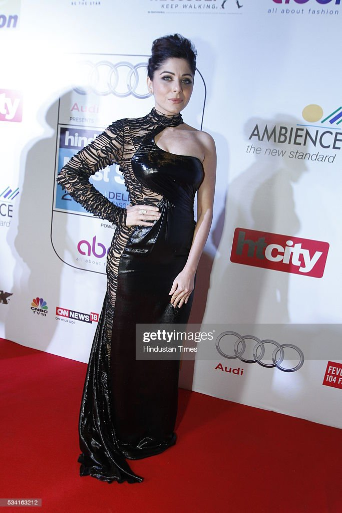Singer Kanika Kapoor arriving at red carpet for Hindustan Times Most Stylish Awards 2016 at hotel JW Marriot, Aerocity on May 24, 2016 in New Delhi, India.