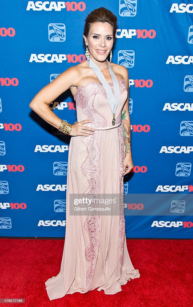 Singer <a gi-track='captionPersonalityLinkClicked' href=/galleries/search?phrase=Kany+Garcia&family=editorial&specificpeople=4529493 ng-click='$event.stopPropagation()'>Kany Garcia</a> attends the 22nd annual ASCAP Latin Music Awards at Hammerstein Ballroom on March 18, 2014 in New York City.