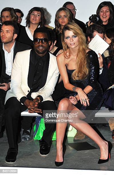 Singer Kanye West and US Actress Mischa Barton attend the Elie Saab fashion show during Paris Fashion Week Menswear Autumn/Winter 2009 at Palais de...