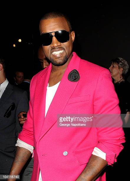 Singer Kanye West attends the Tory Burch Spring 2011 presentation during MercedesBenz Fashion Week at The Studio at Lincoln Center on September 15...