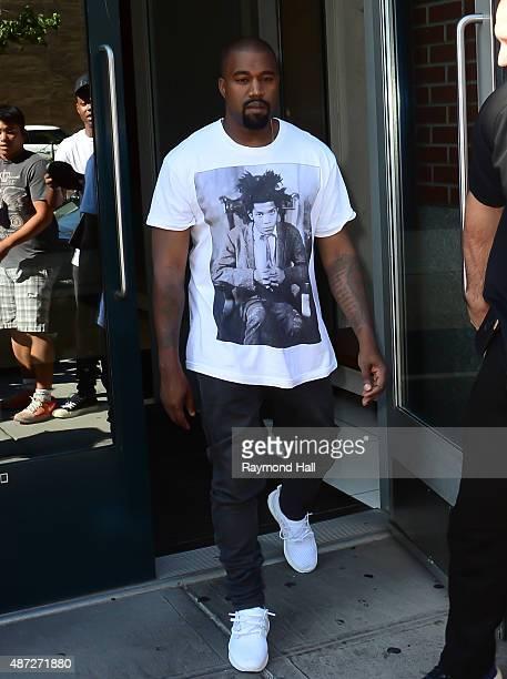 Singer Kanye West is seen in Soho on September 7 2015 in New York City