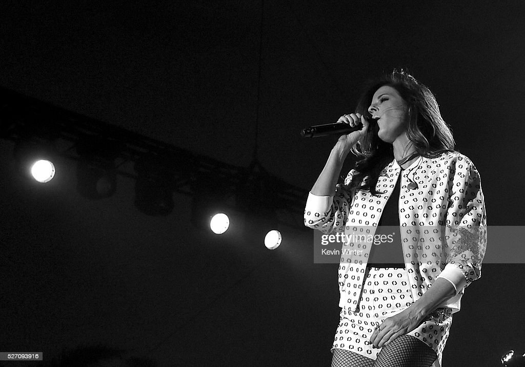 Singer Karen Fairchild of Little Big Town performs onstage during 2016 Stagecoach California's Country Music Festival at Empire Polo Club on May 01, 2016 in Indio, California.