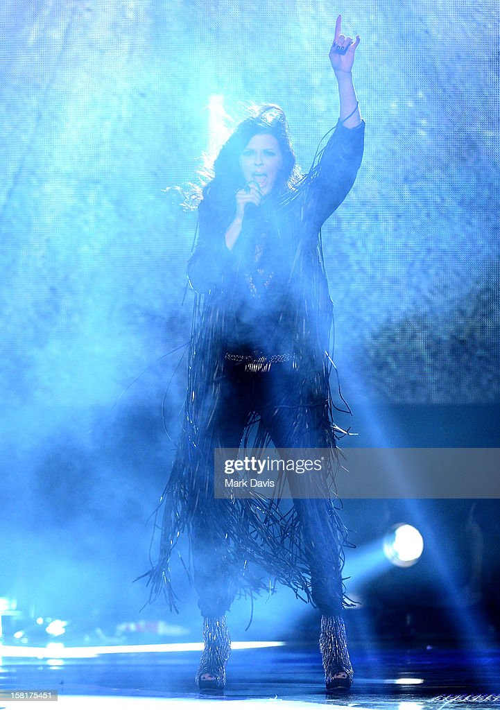 Singer Karen Fairchild of Little Big Town performs onstage during the 2012 American Country Awards at the Mandalay Bay Events Center on December 10, 2012 in Las Vegas, Nevada.
