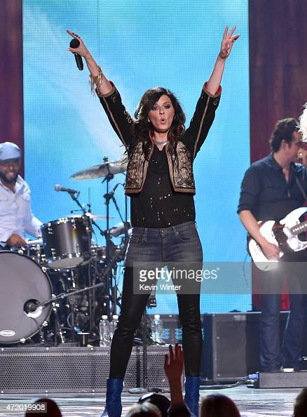 Singer Karen Fairchild of Little Big Town performs onstage during the 2015 iHeartRadio Country Festival at The Frank Erwin Center on May 2 2015 in...