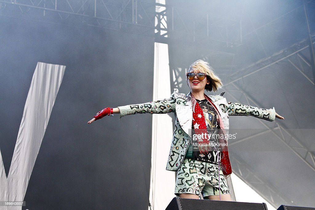 Singer Karen O of The Yeah, Yeah, Yeahs performs during the 2013 Hangout Music Festival on May 19, 2013 in Gulf Shores, Alabama.