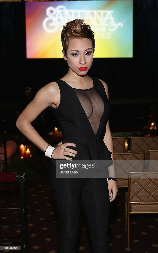 Singer Karina Pasian attends the HBO Latino NYC Premiere of 'Santana: De Corazon' at Hudson Theatre on April 16, 2014 in New York City.
