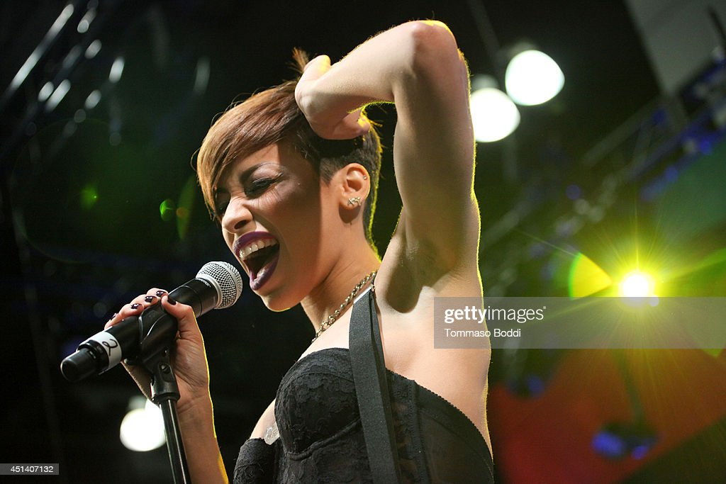 Singer Karina Pasian performs onstage at the Music Matters presented by Nissan during the 2014 BET Experience At L.A. LIVE on June 28, 2014 in Los Angeles, California.