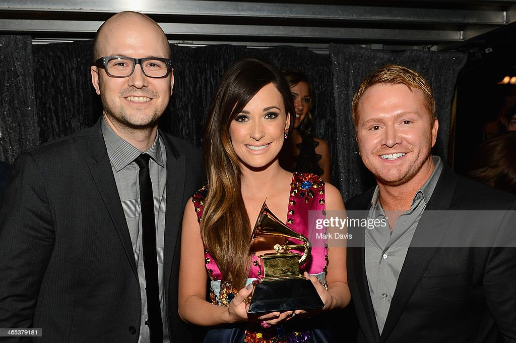 Singer Kasy Musgraves (C) attends the 56th GRAMMY Awards at Staples Center on January 26, 2014 in Los Angeles, California.