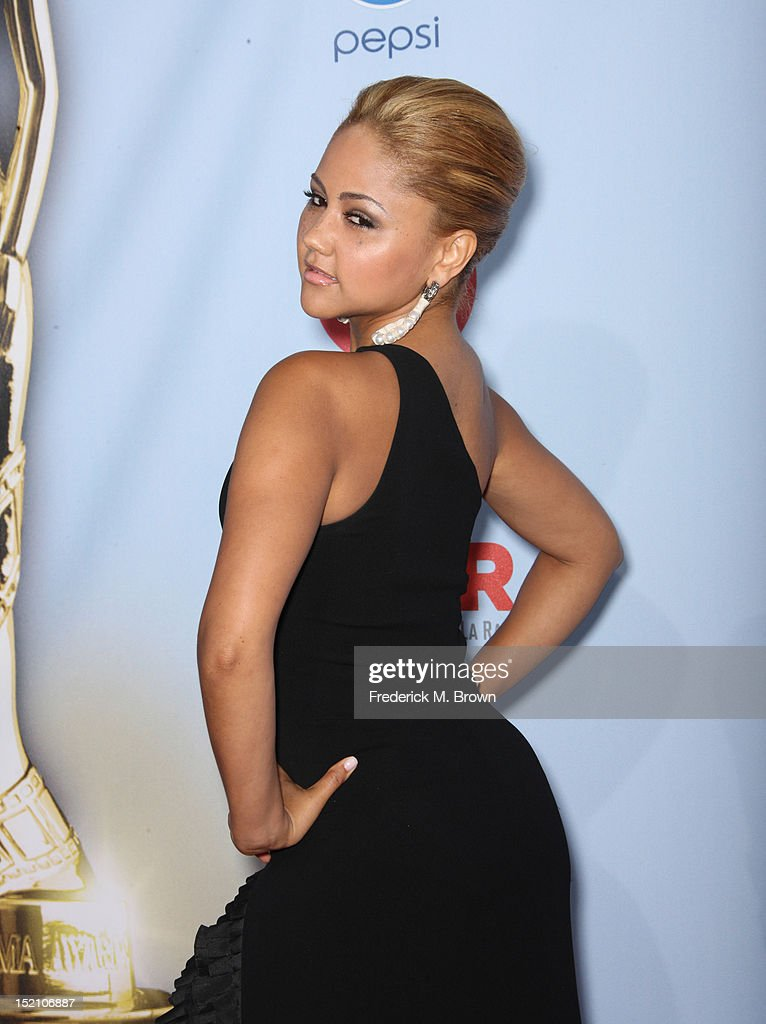 Singer Kat DeLuna arrives at the 2012 NCLR ALMA Awards at Pasadena Civic Auditorium on September 16, 2012 in Pasadena, California.