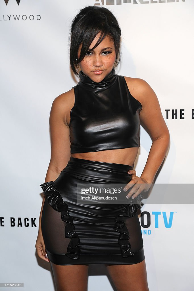Singer <a gi-track='captionPersonalityLinkClicked' href=/galleries/search?phrase=Kat+DeLuna&family=editorial&specificpeople=4135742 ng-click='$event.stopPropagation()'>Kat DeLuna</a> attends Logo's 'Hot 100' Party at Drai's Lounge in W Hollywood on June 25, 2013 in Hollywood, California.