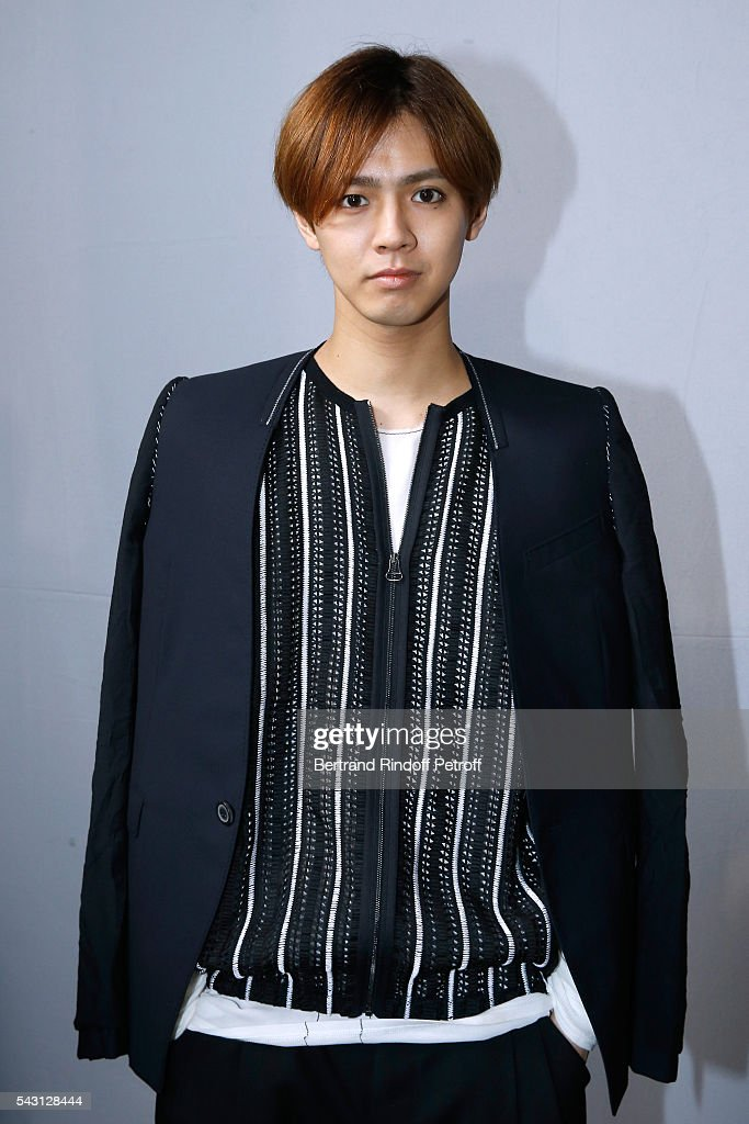 Singer Katayose Ryota attends the Lanvin Menswear Spring/Summer 2017 show as part of Paris Fashion Week on June 26, 2016 in Paris, France.
