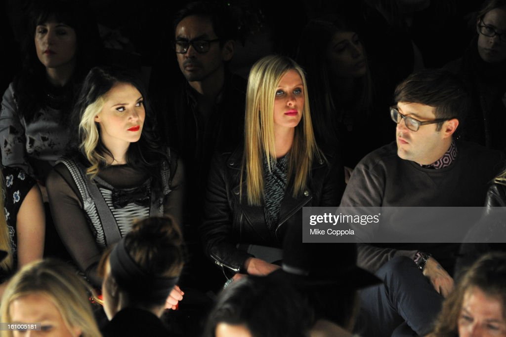Singer Kate Nash and Nicky Hilton attend the Rebecca Minkoff Fall 2013 fashion show during Mercedes-Benz Fashion at The Theatre at Lincoln Center on February 8, 2013 in New York City.