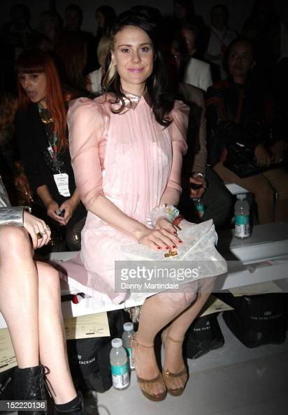 Singer Kate Nash attends the front row for the Mark Fast show on day 4 of London Fashion Week Spring/Summer 2013 at The Courtyard Show Space on...
