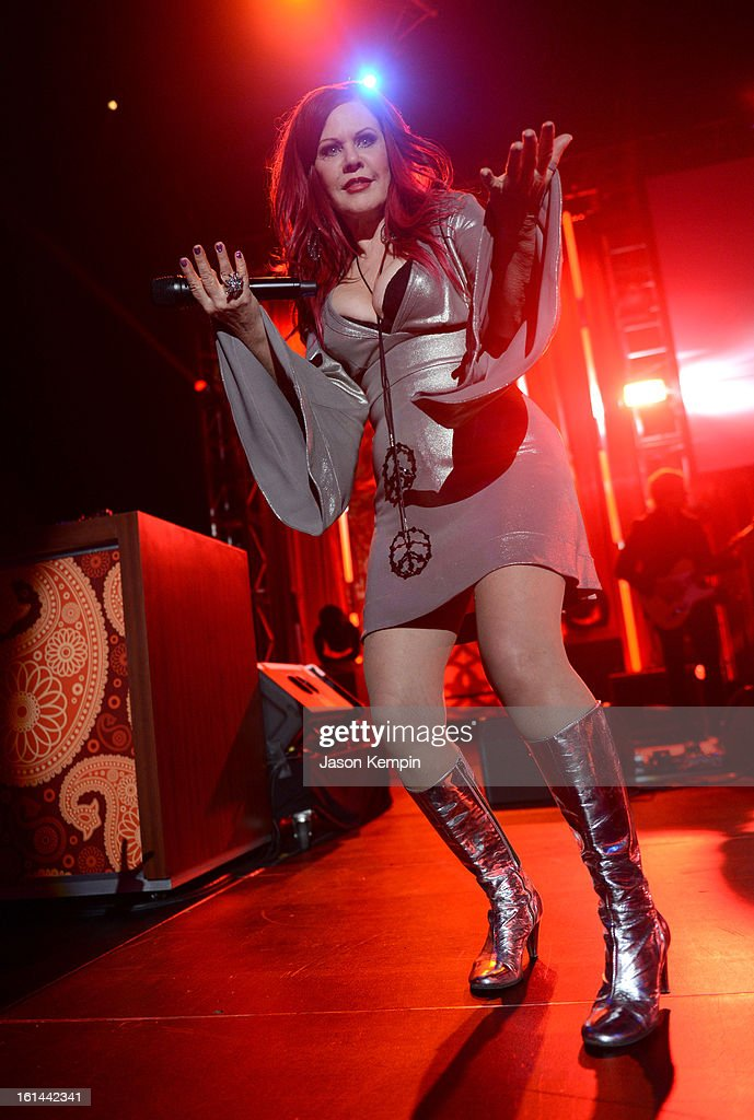 Singer Kate Pierson of The B-52s performs at the 55th Annual GRAMMY Awards after party at the Los Angeles Convention Center on February 10, 2013 in Los Angeles, California.