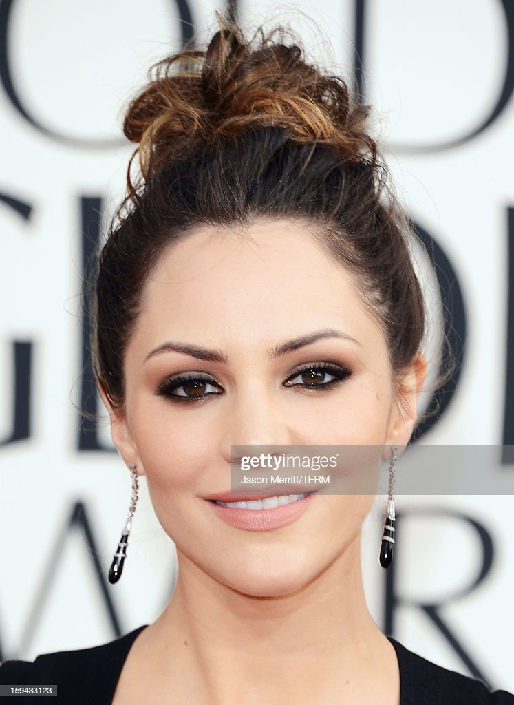 Singer Katharine McPhee arrives at the 70th Annual Golden Globe Awards held at The Beverly Hilton Hotel on January 13, 2013 in Beverly Hills, California.
