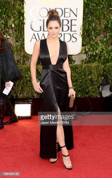 Singer Katharine McPhee arrives at the 70th Annual Golden Globe Awards held at The Beverly Hilton Hotel on January 13 2013 in Beverly Hills California