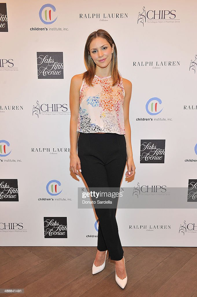 Singer <a gi-track='captionPersonalityLinkClicked' href=/galleries/search?phrase=Katharine+McPhee&family=editorial&specificpeople=581492 ng-click='$event.stopPropagation()'>Katharine McPhee</a> attend C.H.I.P.S Colleagues Helpers in Philanthropic Service Children's Institute annual charity luncheon at The Four Seasons Hotel on May 8, 2014 in Beverly Hills, California.
