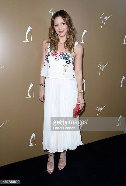 Singer Katharine McPhee attends the Giuseppe Zanotti Beverly Hills Store Opening on April 14 2015 in Beverly Hills California