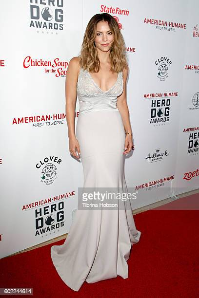 Singer Katharine McPhee attends the Sixth Annual American Humane Association Hero Dog Awards at The Beverly Hilton Hotel on September 10 2016 in...