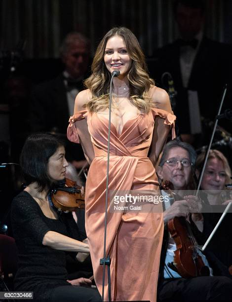 Singer Katharine McPhee performs in concert at Prudential Center on December 18 2016 in Newark New Jersey