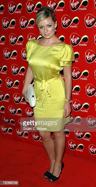 Singer Katherine Jenkins arrives at the Virgin Media Launch Party at Club Cirque Leicester Square on February 08 2007 in London England