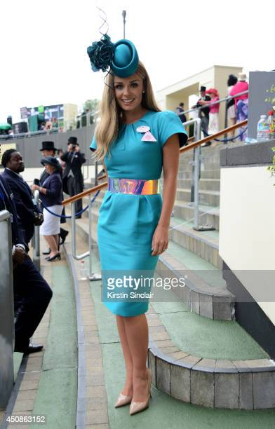 Singer Katherine Jenkins attends day three of Royal Ascot at Ascot Racecourse on June 19 2014 in Ascot England