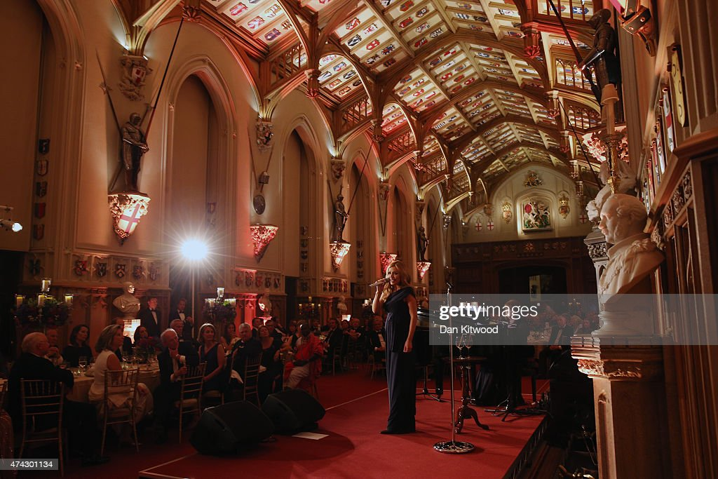 Singer Katherine Jenkins performs to guests at a dinner to mark the 25th anniversary of Tusk Trust at Windsor Castle on May 21, 2015 in Windsor, England. The reception and dinner took place in the presence of the Royal Patron of Tusk Prince William, Duke of Cambridge. Tusk is a conservation charity which aims to address the greatest challenges faced by Africa's wildlife and people.