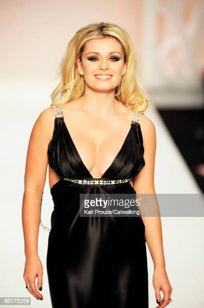 Singer Katherine Jenkins walks the catwalk during the Fashion For Relief show part of London Fashion Week Spring/Summer 2009 on September 17 2008 in...