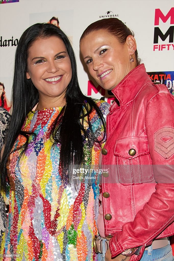 Singer Katia Aveiro (L) and her sister Elma Aveiro (R) attend the presentation of new album 'Feat Wildboyz' at the MOMA Club on September 18, 2013 in Madrid, Spain.