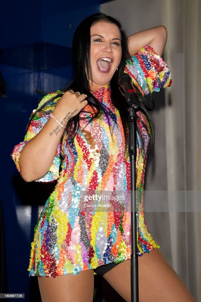 Singer Katia Aveiro presents her new album 'Feat Wildboyz' at the MOMA Club on September 18, 2013 in Madrid, Spain.