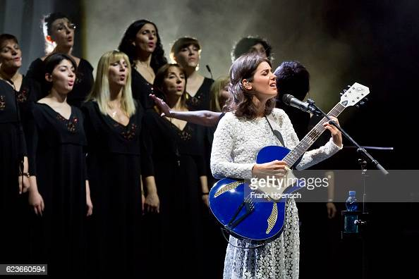 Singer Katie Melua performs live during a concert at the Admiralspalast on November 16 2016 in Berlin Germany