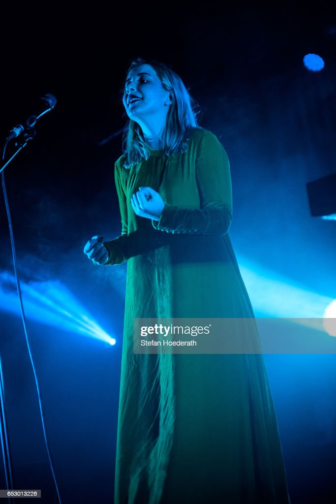 Singer Katie Stelmanis of Austra performs live on stage during a concert at Astra on March 13, 2017 in Berlin, Germany.
