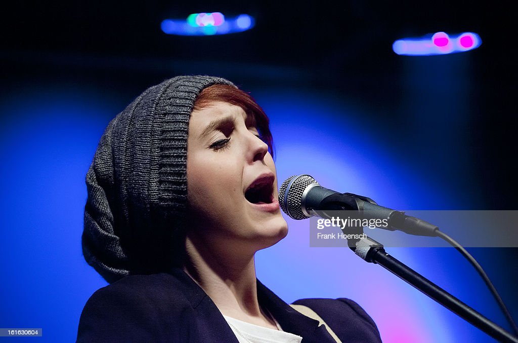 Singer Katja Petri of On A Sunday performs live in support of Heartless Bastards during a concert at the Postbahnhof on February 13, 2013 in Berlin, Germany.