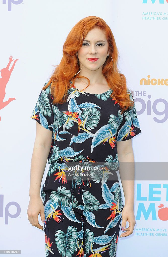 Singer Katy B attends Nickelodeon joins Let's Move for 'Let's Move London' event at the American Ambassadors Residence, Winfield House, Regents Park on July 27, 2012 in London, England.