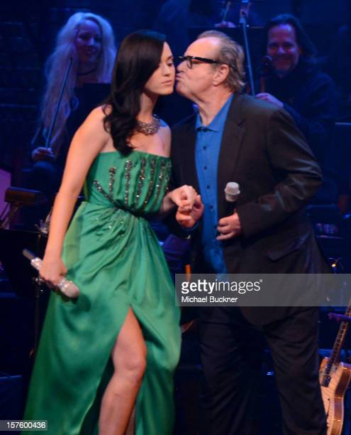 Singer Katy Perry and actor Jack Nicholson attend a celebration of Carole King and her music to benefit Paul Newman's The Painted Turtle Camp at the...