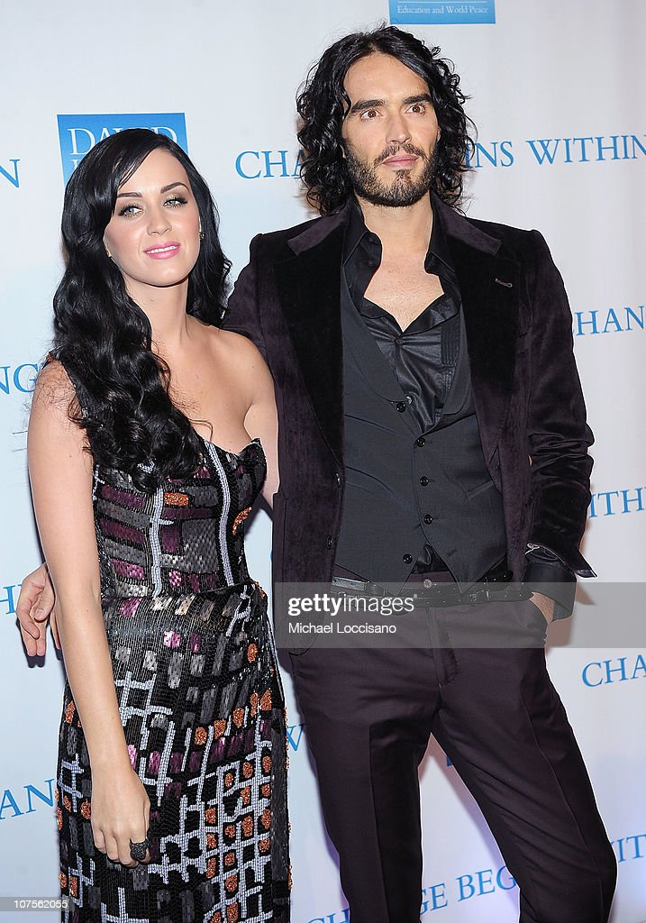 Singer Katy Perry and actor Russell Brand attend the 2nd Annual David Lynch Foundation's Change Begins Within Benefit Celebration at The Metropolitan Museum of Art on December 13, 2010 in New York City.