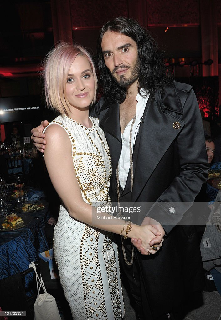 Singer <a gi-track='captionPersonalityLinkClicked' href=/galleries/search?phrase=Katy+Perry&family=editorial&specificpeople=599558 ng-click='$event.stopPropagation()'>Katy Perry</a> (L) and actor <a gi-track='captionPersonalityLinkClicked' href=/galleries/search?phrase=Russell+Brand&family=editorial&specificpeople=536593 ng-click='$event.stopPropagation()'>Russell Brand</a> attend the 3rd Annual 'Change Begins Within' Benefit Celebration presented by The David Lynch Foundation held at LACMA on December 3, 2011 in Los Angeles, California.
