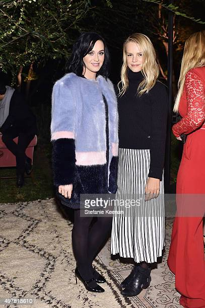 Singer Katy Perry and Kelly Sawyer Patricof attend Barneys New York Jennifer Aniston and Tobey Maguire host a private dinner to celebrate The Barneys...