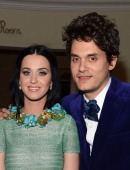 Singer Katy Perry and musician John Mayer attend Sony Music Grammy Reception at Bar Nineteen 12 on February 10 2013 in Beverly Hills California