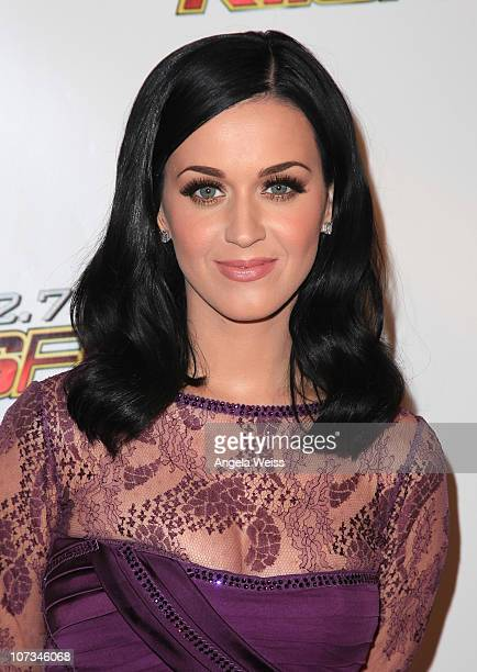 Singer Katy Perry arrives at 1027 KIIS FM's Jingle Ball 2010 at Nokia Theater LA Live on December 5 2010 in Los Angeles California
