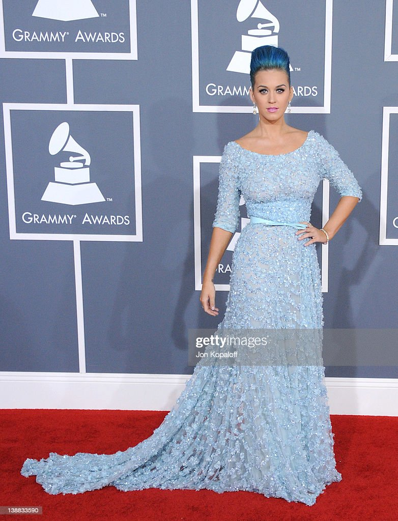 Singer Katy Perry arrives at 54th Annual GRAMMY Awards held the at Staples Center on February 12, 2012 in Los Angeles, California.