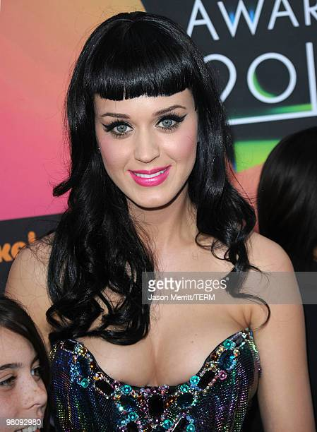 Singer Katy Perry arrives at Nickelodeon's 23rd Annual Kids' Choice Awards held at UCLA's Pauley Pavilion on March 27 2010 in Los Angeles California