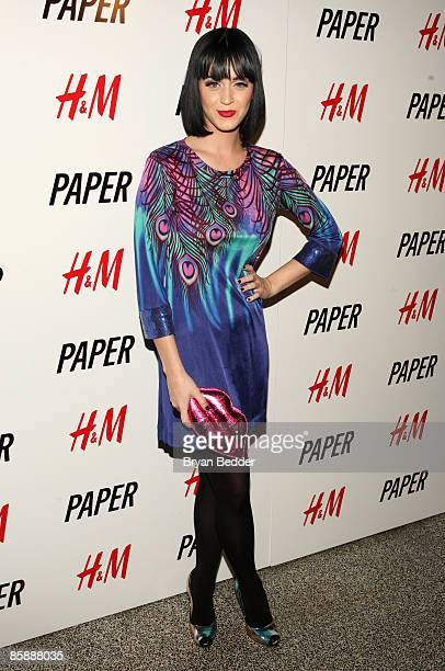 Singer Katy Perry arrives at Paper Magazine's 'Beautiful People' party at the Hiro Ballroom at the Maritime Hotel on April 9 2009 in New York City