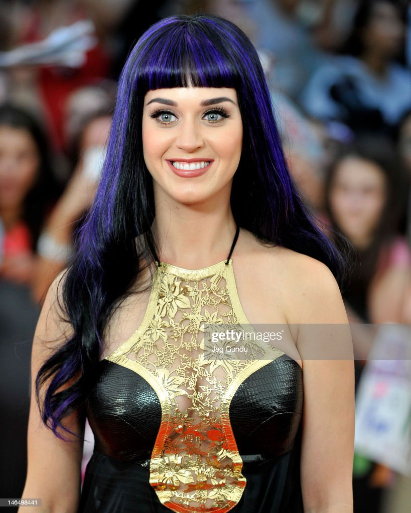 Singer Katy Perry arrives at the 2012 MuchMusic Video Awards at the MuchMusic HQ on June 17 2012 in Toronto Canada