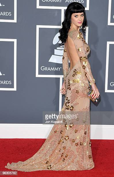 Singer Katy Perry arrives at the 52nd Annual GRAMMY Awards held at Staples Center on January 31 2010 in Los Angeles California