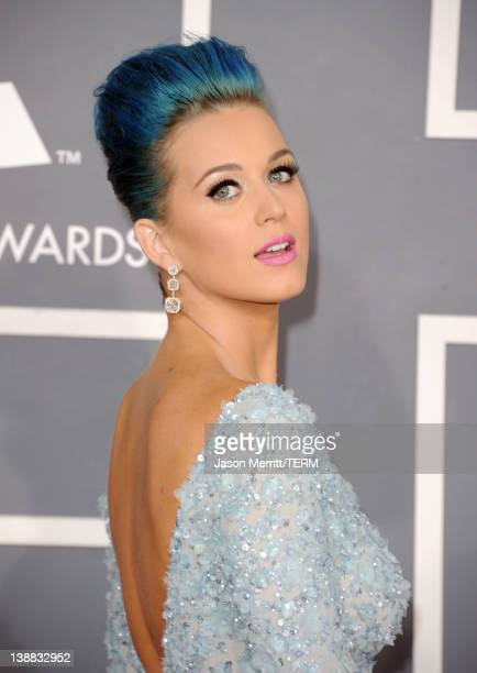 Singer Katy Perry arrives at the 54th Annual GRAMMY Awards held at Staples Center on February 12 2012 in Los Angeles California