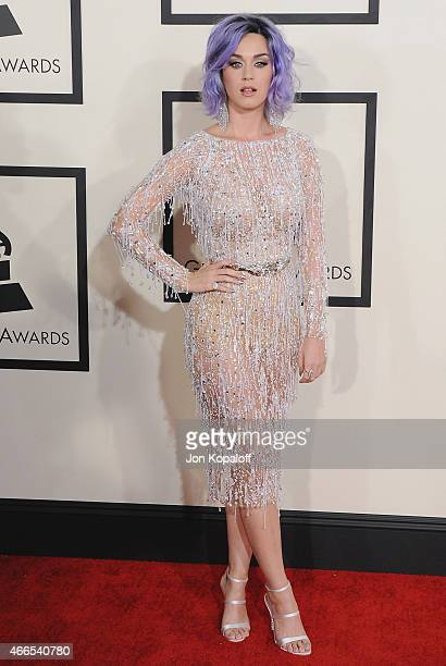 Singer Katy Perry arrives at the 57th GRAMMY Awards at Staples Center on February 8 2015 in Los Angeles California