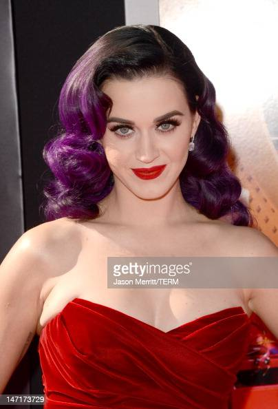 Singer Katy Perry arrives at the premiere of Paramount Insurge's 'Katy Perry Part Of Me' held at Grauman's Chinese Theatre on June 26 2012 in...