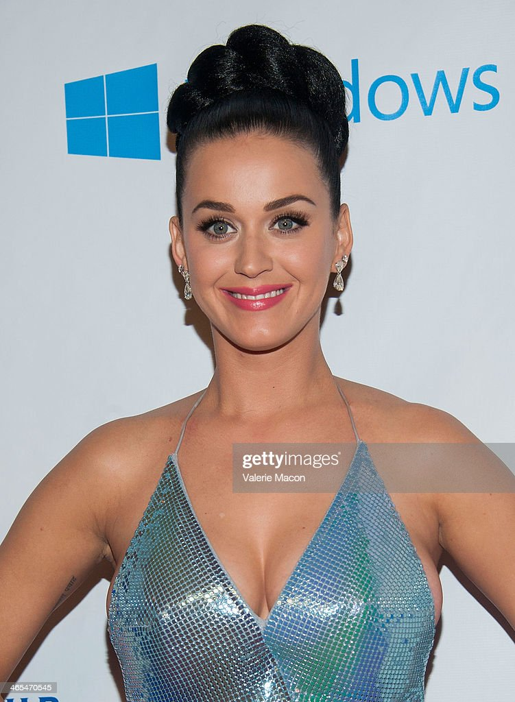 Singer <a gi-track='captionPersonalityLinkClicked' href=/galleries/search?phrase=Katy+Perry&family=editorial&specificpeople=599558 ng-click='$event.stopPropagation()'>Katy Perry</a> arrives at the Universal Music Group 2014 Post GRAMMY Party at The Ace Hotel Theater on January 26, 2014 in Los Angeles, California.